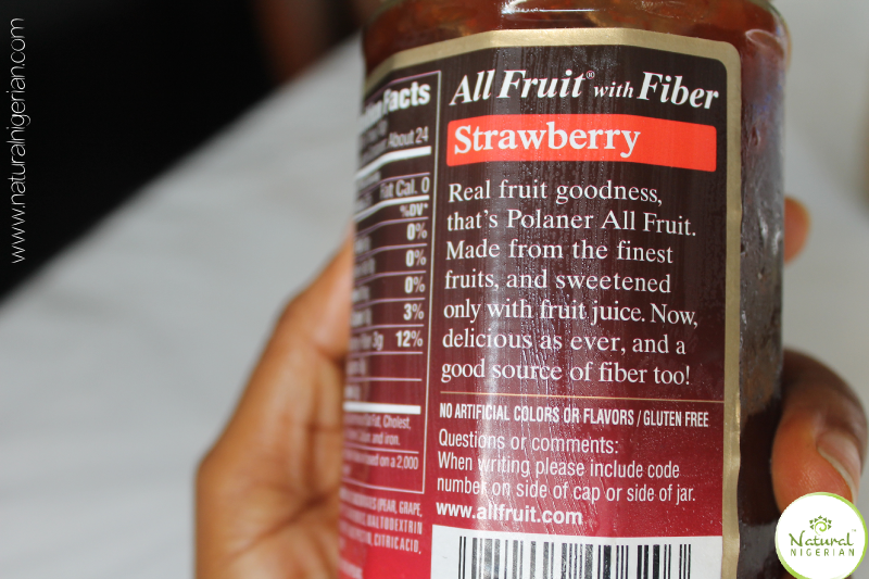 Natural Nigerian Peanut Butter and Jelly Label for Jelly Nigeria 2
