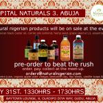 Capital Naturals 3 Meet up, Abuja – Pre order!