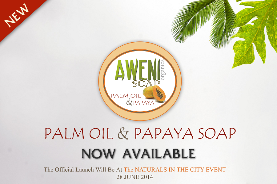 aweni palm oil & papaya - now available poster