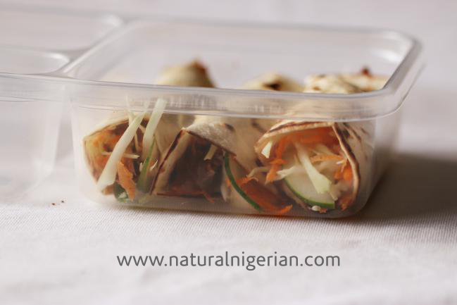 Natural Nigerian Healthy School Lunch