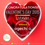 Valentine Day 2015 Giveaway – Winner