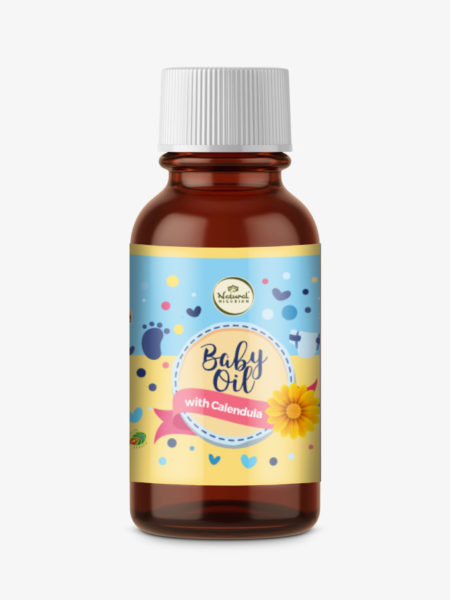 Natural Nigerian Herbal Skin Baby Oil with Calendula, Red Acalypha, Chamomile, Nettle