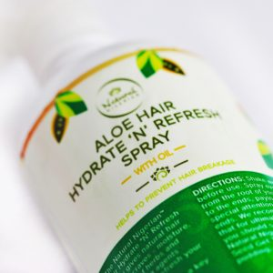 Aloe hair spray