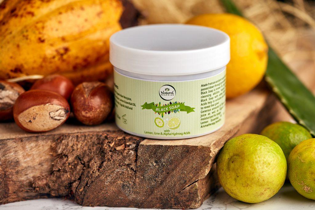 Natural Nigerian™ Lemon, Lime & Alpha Hydroxy Acid Black Soap