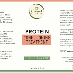 Protein treatment strength conditioner hair weak nigeria lagos